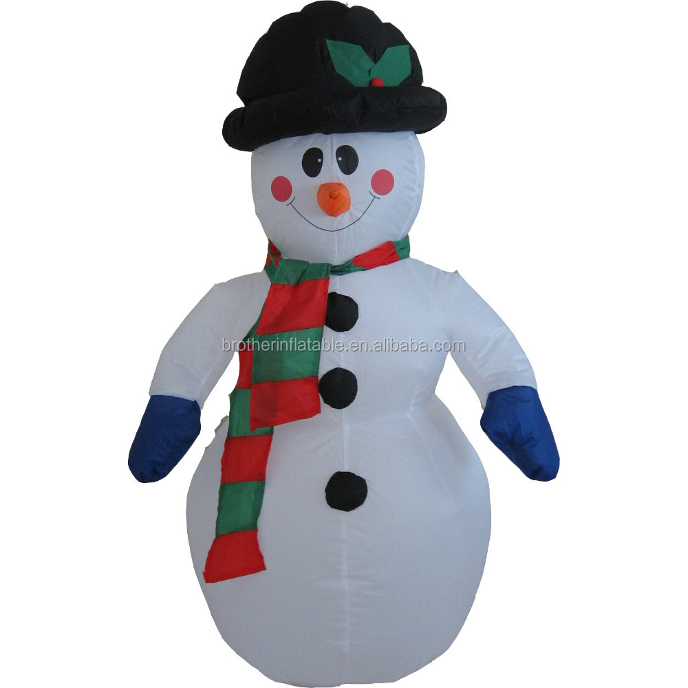 Outdoor cheap giant inflatable holiday christmas fiber optic snowman