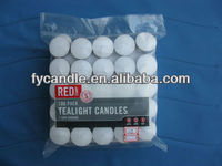 12g 100pcs Red Stamp clear plastic bag Paraffin wax T Candles/Candele/Velas/ Bougies/ Chauffe-Plats/ Teelichte 0086-18733129187