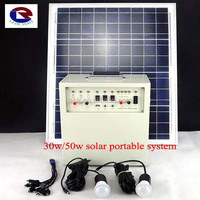 30w solar powered generator for poor area without electricity
