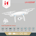 LH-X25WF new products 2018 2.4g radio control 4ch copter wifi drone with camera toys from china