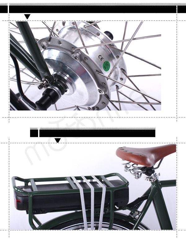 MOTORLIFE/OEM EN15194 HOT SALE 36v 250w 700C male cargo e-bike
