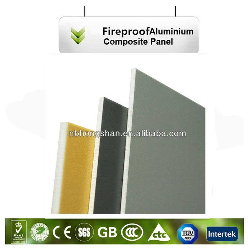 Construction Fireproof use exterior interior PVDF Aluminum Composite Panel