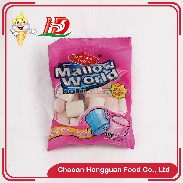 New style delicious chewing colorful marshmallow sweet food snack halal food