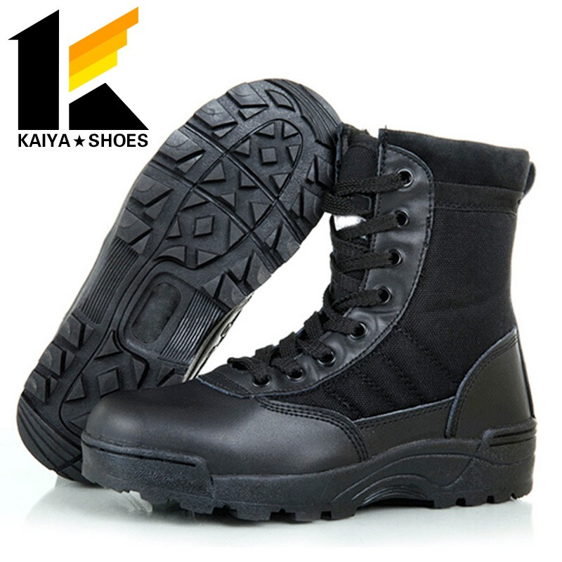 Waterproof Low Price Genuine Cow Leather Boots