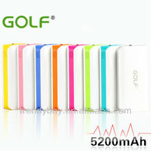 GOLF usb power bank GF-802 5200mAh power bank for htc