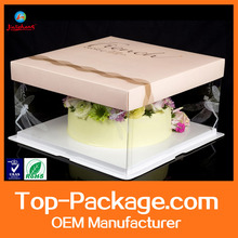 High quality clear plastic cake boxes cake packaging boxes paper cake boxes