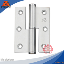 76mm satin stainless steel H type lift off hinge for high level door manufactured in Zhongshan