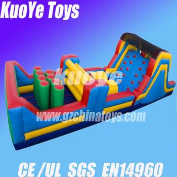 inflatable alibaba obstacle durable pvc adrenaline rush extreme inflatable obstacle course