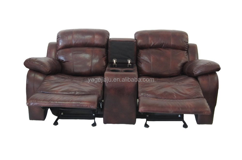Hot New Designs Cheap Genuine Leather Recliner Sectional