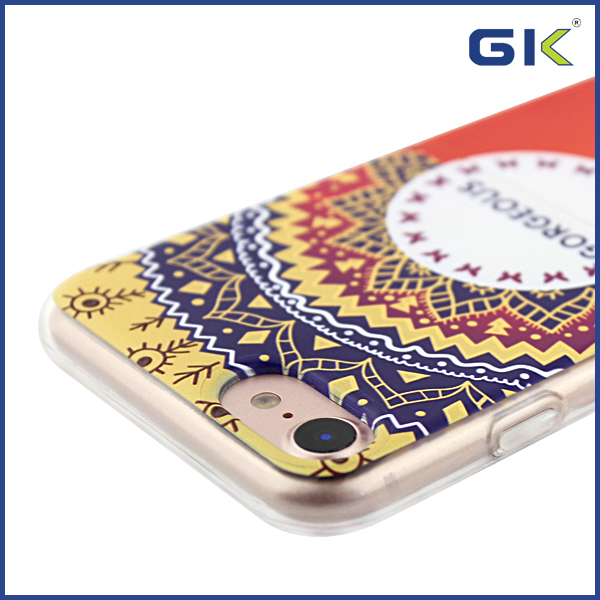 [GK] Half Hard PC And Half Soft TPU With 3D Relief Hybrid Cover For iPhone 7 Case