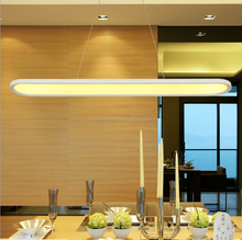 Modern Simple Living Room Hanging Decorative Straight acrylic LED Indoor pendant Light