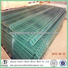 Plastic coated welded wire mesh fence panel