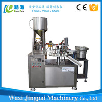 Semi-automatic gel filling and capping machine for small bottles