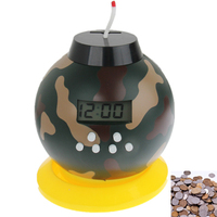 LED Bomb Alarm Clock with Bank and Game Mode