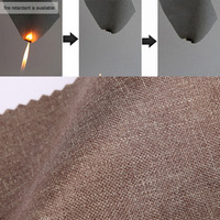 3 pass coated blackout hemp fabric for drapery