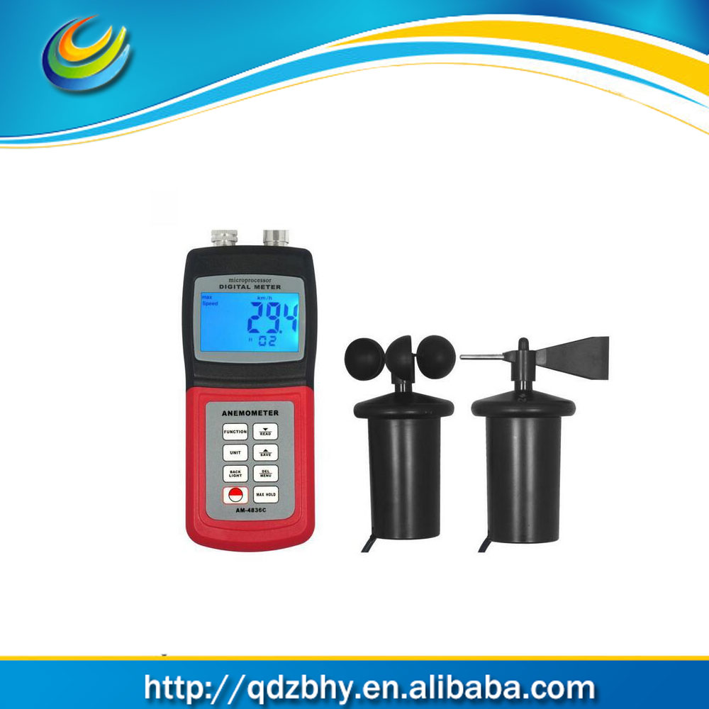 AM-4836C Multi-functional Anemometer Wind Speed Tester Air Velocity Meter Temperature Measurement