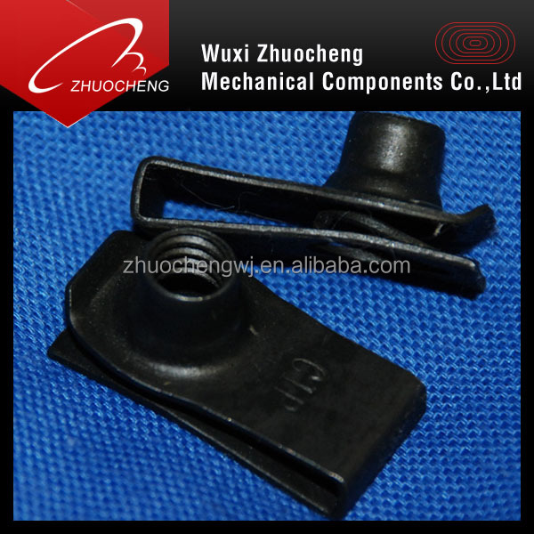 carbon steel zinc plated M6 u type clip nuts