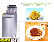 High quality KFC chicken fryer deep fat gas fryer with drain oil extension pipe