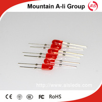 1200cd 3mm Red Color Emitting LED Diode of Negative Technology