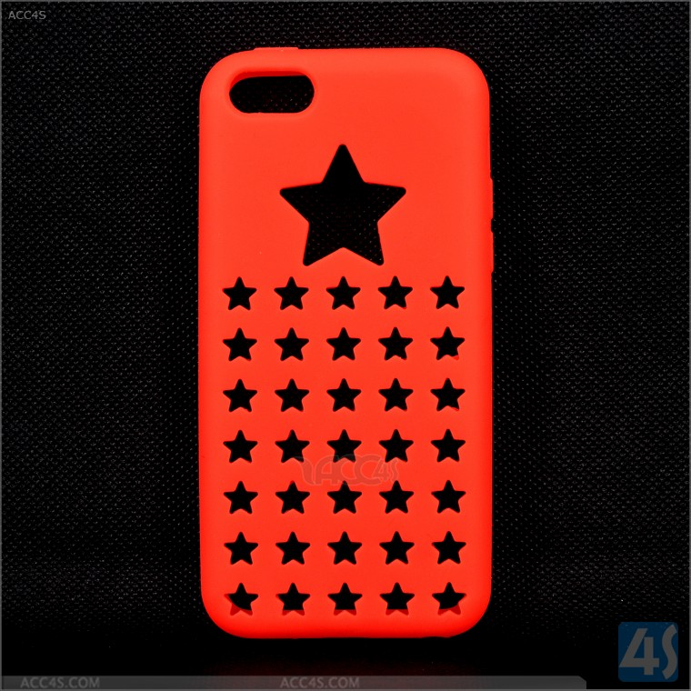 Star hole design tpu case for iphone 5c