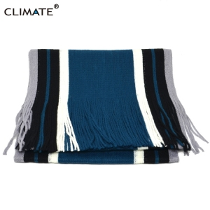 Hot Sell Acrylic winter warm striped men's scarf