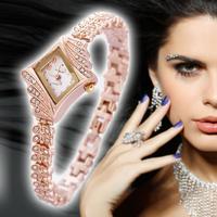 fashion stainless steel gold diamond wrist lady watch women