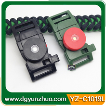 Black whistle buckles with LED light