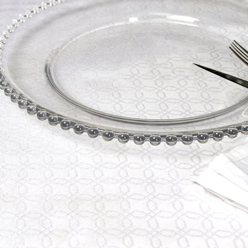 Cheap Wholesale Clear Beaded Charger <strong>Plates</strong>