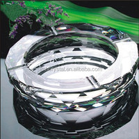 beautiful crystal round shape cigarette ashtray MH-G058