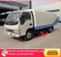 Chengli factory JAC 4*2 small vacuum suction price of road sweeper truck