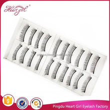 hot sale hand made handtide synthetic hair material 10pairs/box false eyelashes