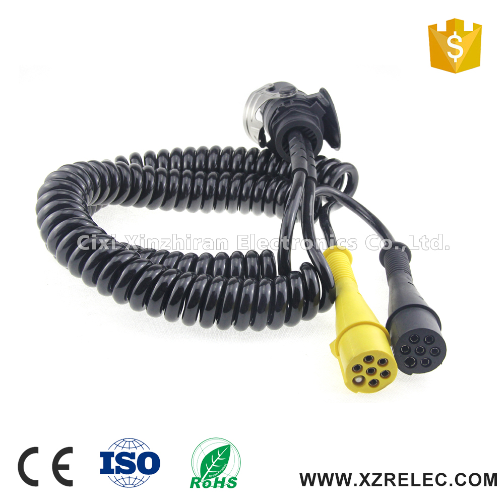 Copper conductor pvc insulated multi core flexible power spiral cable