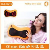 K216 Creative Design PU Material Heating & Kneading Electric Back Massage Pillow