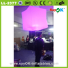 Hot selling inflatable giant square floating advertising balloon with led