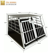 Double door Aluminum dog cage/dog house/travelling dog cage
