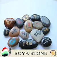 carved pebble stone with Portrait, engraved pebble stone, pebble stone craft