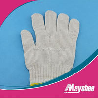 protection hands Working safety glove with natural color