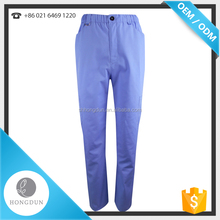 Custom Cheap Medical Scrub Pants navy blue uniform pants For Hospital patient wear