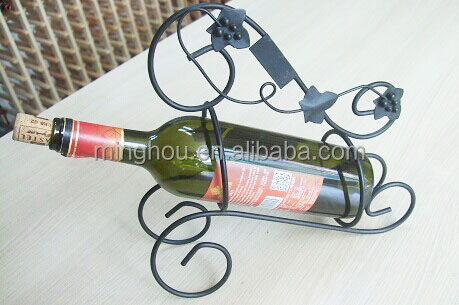 single bottle metal wine rack ,metal crafts wine bottle holder