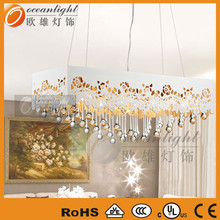 Tear Drop Hollow Light Elegant White and Silver Pendant Lamp OM7702