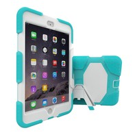 New Color PC Silicone Case For iPad Mini4 Kickstand Cover For iPad