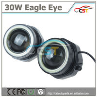 Hot sell car led fog lamp eagle eye super slim led drl 9W with bolt