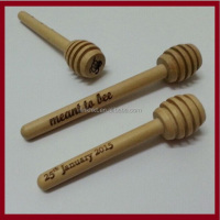 Custom sizes wooden Honey Dippers