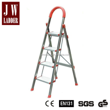 Light durable stainless steel collapsible household 4 step ladder