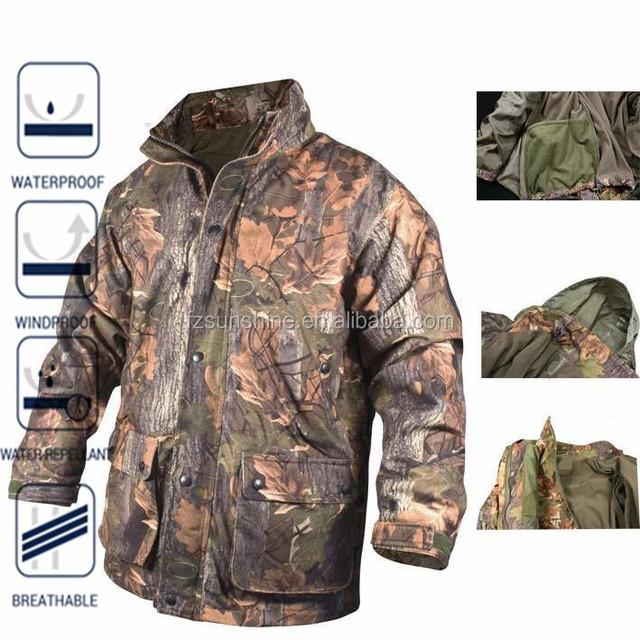 3 in 1 Camouflage Men Winter Woodland Jackets