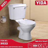 Africa satandard New design Bathroom round washdown toilet two piece commode