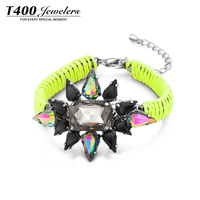T400 Lemon Soda Bracelet With Austrian Crystal Fashion Bangle Jewelry #3402