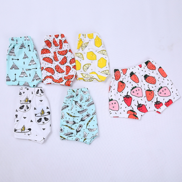 MS60984K fruit printed summer hot sale shorts baby cotton bloomer