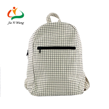 Hot selling Amazon leisure soft canvas vintage grid backpack