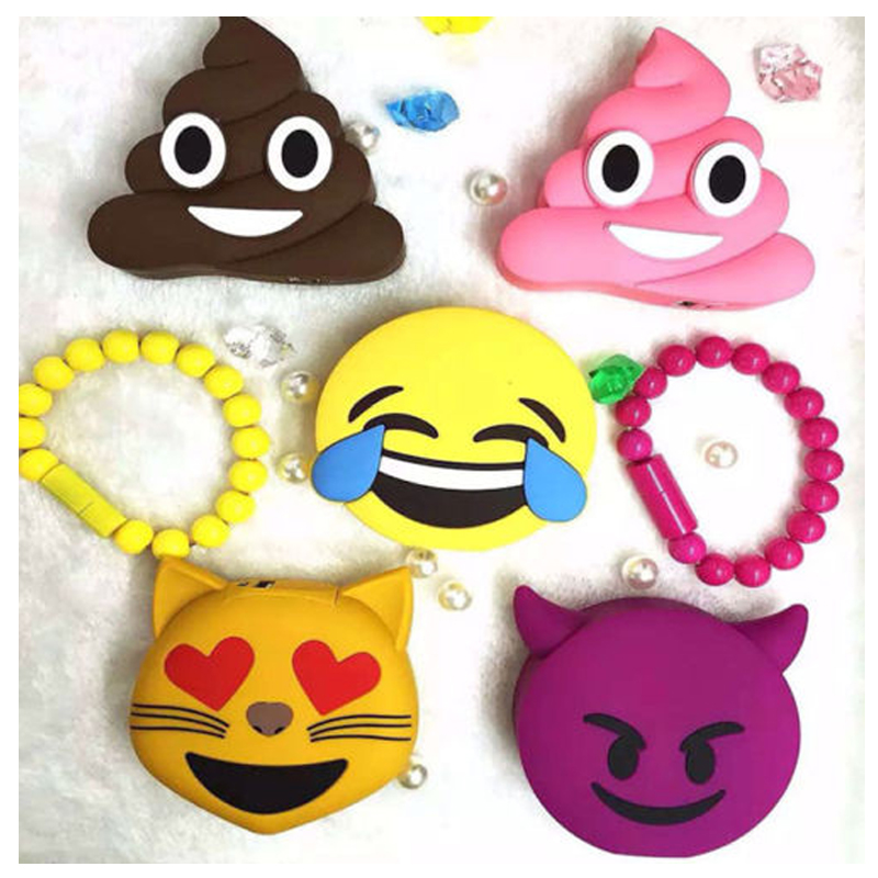 8800mAh Cartoon External Battery Emoji Portable Mobile Phones Charger Power Bank